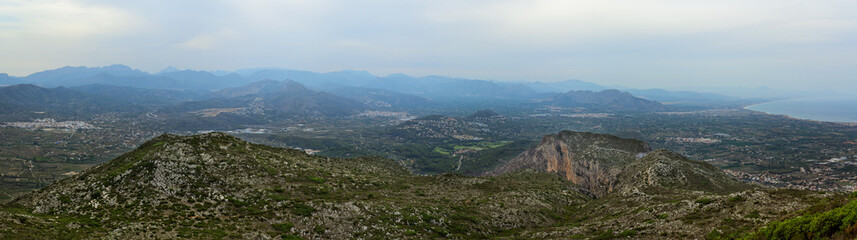 Panoramic view at Montgo