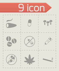 Vector drugs icons set
