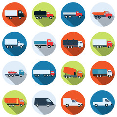Truck vector icons
