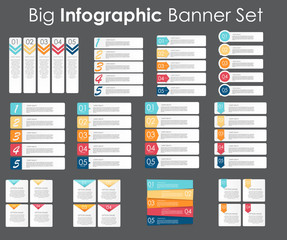 Big Set of Infographic Banner Templates for Your Business Vector