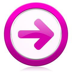 right arrow violet icon arrow sign
