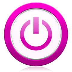 power violet icon on off sign