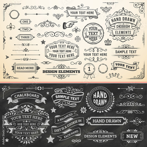 Hand Drawn Design Elements - 78665351