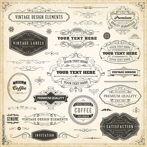 Vintage Design Elements © Carl