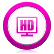 canvas print picture - hd display violet icon