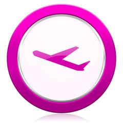 deparures violet icon plane sign