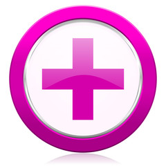plus violet icon cross sign