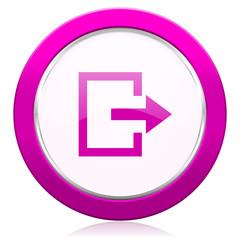 exit violet icon