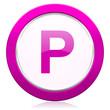 canvas print picture - parking violet icon