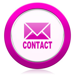 email violet icon contact sign