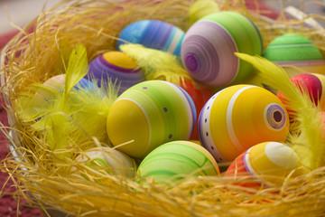 Colored Easter Eggs. Creative Ester egg coloring idea