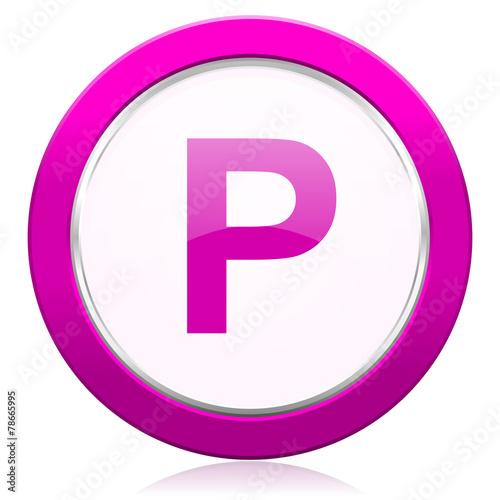 canvas print picture parking violet icon