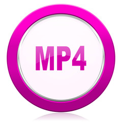 mp4 violet icon