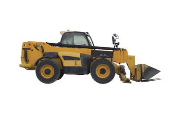Yellow small bulldozer
