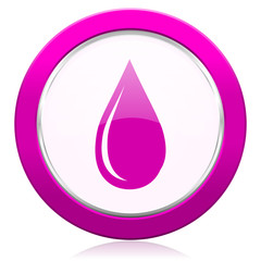 water drop violet icon