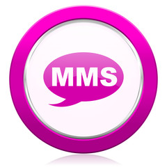 mms violet icon message sign