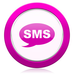 sms violet icon message sign