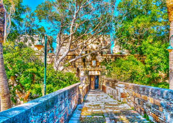 The entry of Saint John Fortress in Kos island in Greece. HDR