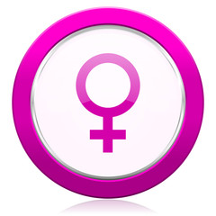 female violet icon female gender sign