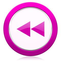 rewind violet icon