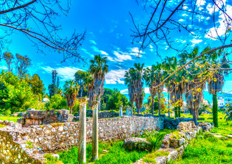 part of ancient Agora in Kos island in Greece. HDR processed