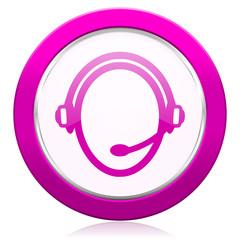 customer service violet icon
