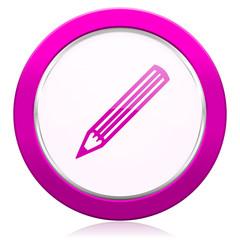 pencil violet icon