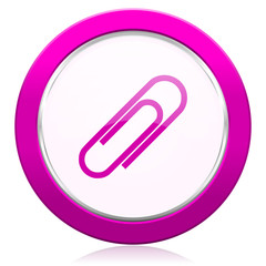 paperclip violet icon
