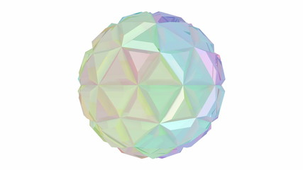 Colorful abstract sphere spin on white background