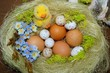Easter composition  - Easter eggs