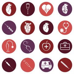 Medicine. Heart doctor Illustration icon. Vector