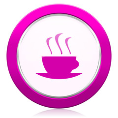 espresso violet icon hot cup of caffee sign