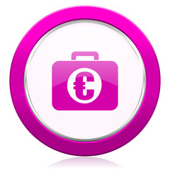 financial violet icon