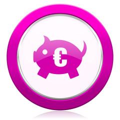 piggy bank violet icon