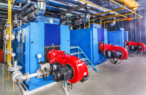 Interior gas boiler with three boilers - 78667160