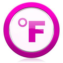 fahrenheit violet icon temperature unit sign
