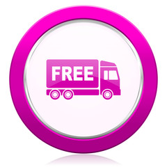free delivery violet icon transport sign