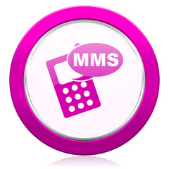 mms violet icon phone sign