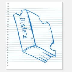 sketch book on a notebook sheet
