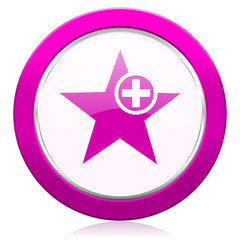 star violet icon add favourite sign