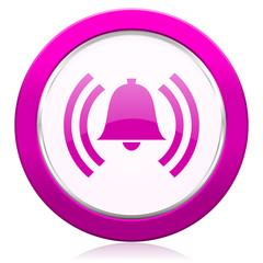 alarm violet icon alert sign bell symbol