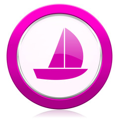 yacht violet icon sail sign