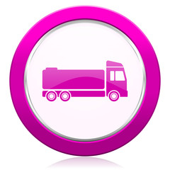 truck violet icon cargo sign