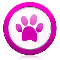 foot violet icon