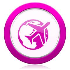 travel violet icon