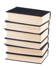 Six black cover books