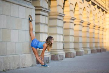 Young girl makes low balance