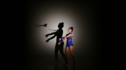 Expressive artistic dance concept from the beautiful gymnasts