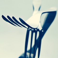 forks, with a filter effect
