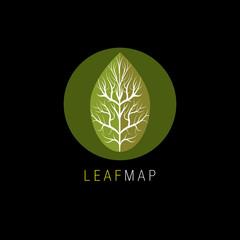 Leaf Map Icon